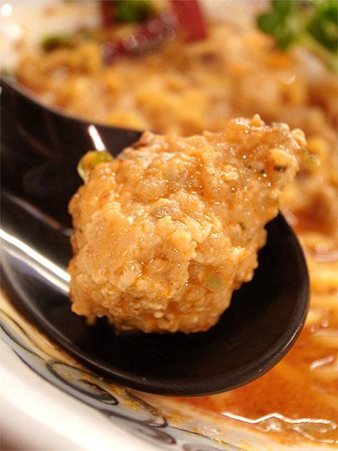 121206ドラゴンジャッキー-怒りの激辛鶏担々麺・鶏団子