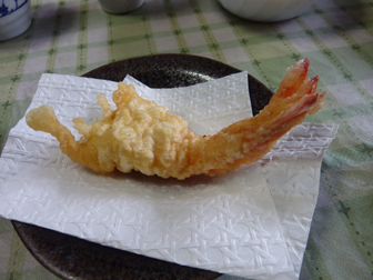 クルマエビ天ぷら
