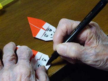 折り紙サンタ1