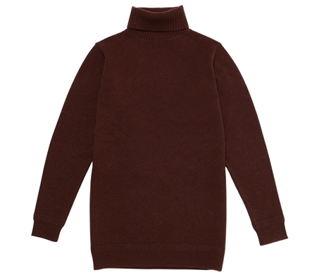 ROLL-NACK KNIT BROWN_R
