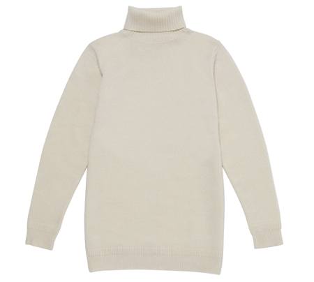 ROLL-NACK KNIT WHITE_R
