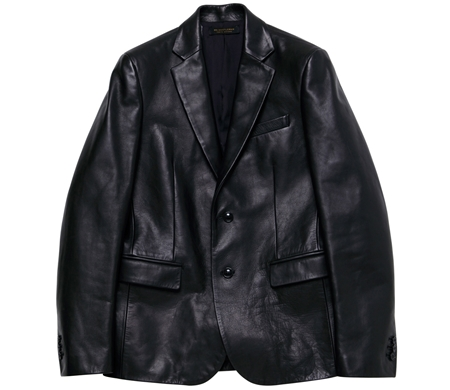 LEATHER TAILORED JACKET BLACK_R