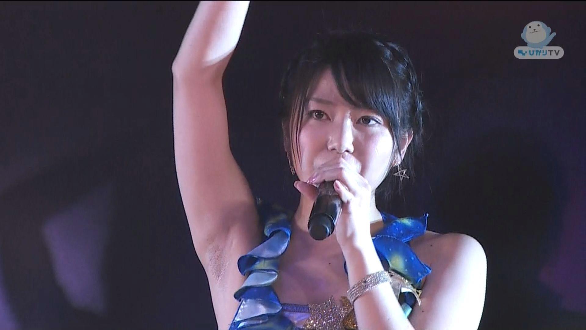AKB48・横山由依の腋がジョリジョリ 横山由依のワキ毛
