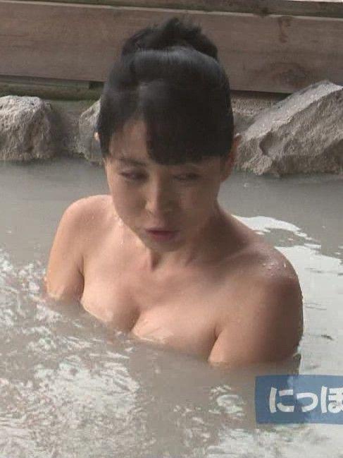 にっぽん!いい旅SPの西村知美の入浴シーン、谷間が凄い