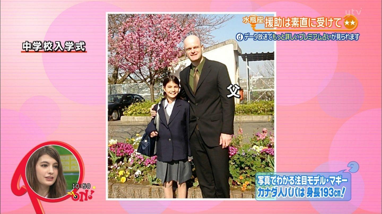 佳子様無修正挿入画像 中学校入学式のマギーとマギーの父親