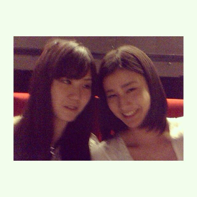 橋本愛がインスタグラムに掲載した姉とのツーショット
