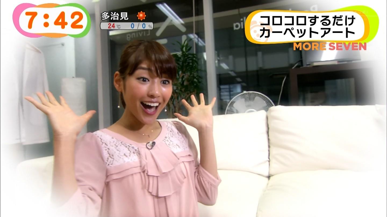 めざましテレビアクアでスケスケのブラウスを着てブラが見えてる岡副麻希アナ