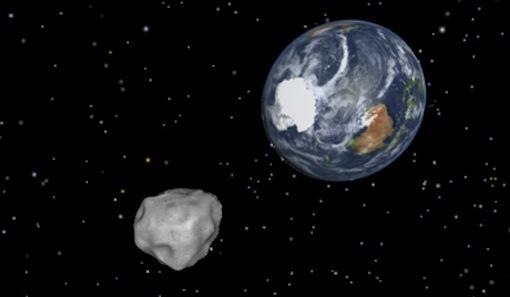 地球に衝突する隕石