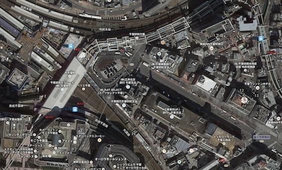 千葉駅上空の写真