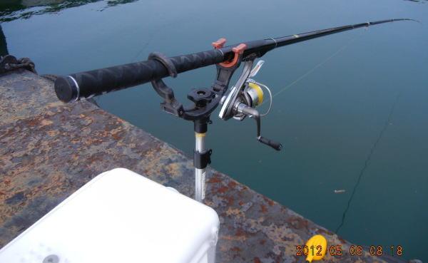 8:18 釣り開始 ♪