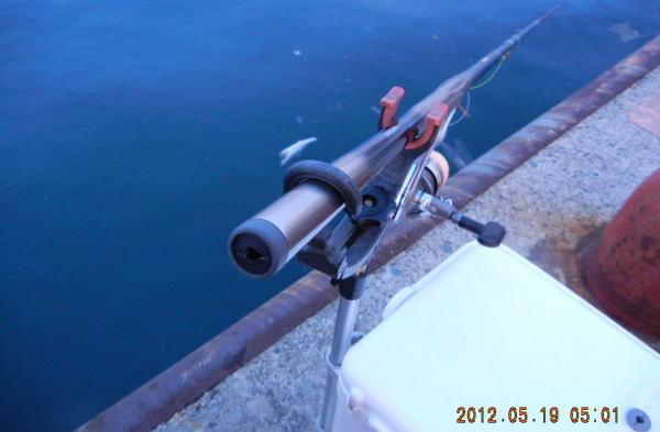 5:01 釣り開始 ♪