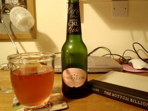 ピンクのビール♪