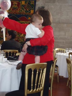 赤ちゃんとキルト