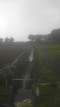 排水路掘削1