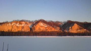 冬夕陽のガンケ