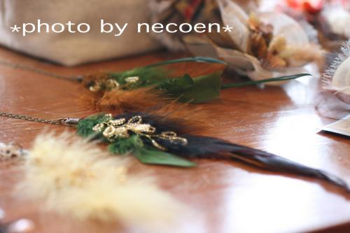 羽根のネックレス