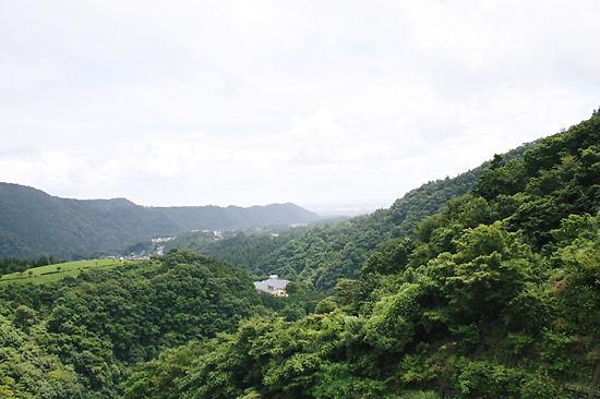 ダムからの風景