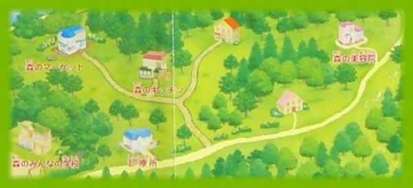 シルバニア村 地図 2004 森の美容院