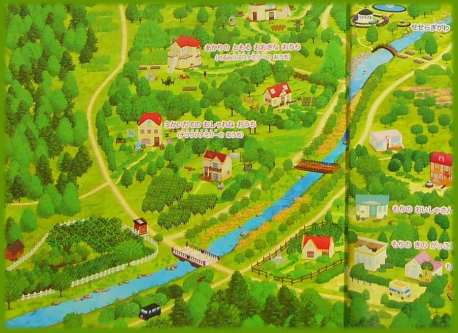 シルバニア村 地図 2014 左下