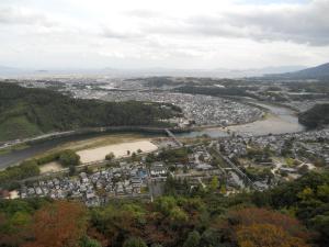 岩国城からの見晴らし/The view from Iwakuni castle