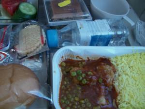 アンマンからイスタンブールへの飛行機の機内食