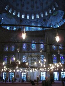 スルタンアメフト・モスクの中