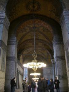 アヤソフィア 1階回廊の天井