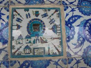 リュステム・パシャ・ジャミィの外側のタイルの一部