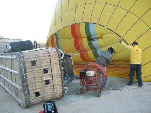 乗る前の気球