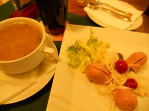 Restaurant 22夜ご飯チェコ風ソーセージ