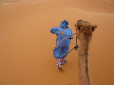 モロッコ「サハラ砂漠(メルズーガ)のテント」2