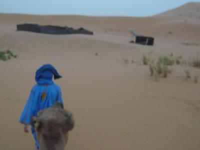 モロッコ「サハラ砂漠(メルズーガ)のテント」4