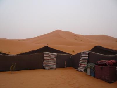 モロッコ「サハラ砂漠(メルズーガ)のテント」9