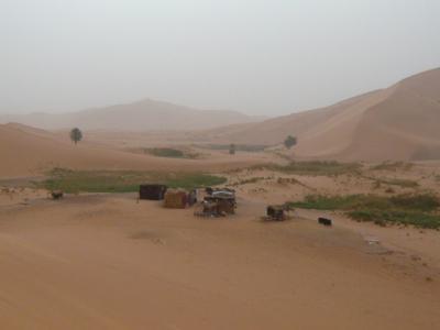 モロッコ「サハラ砂漠(メルズーガ)のテント」14