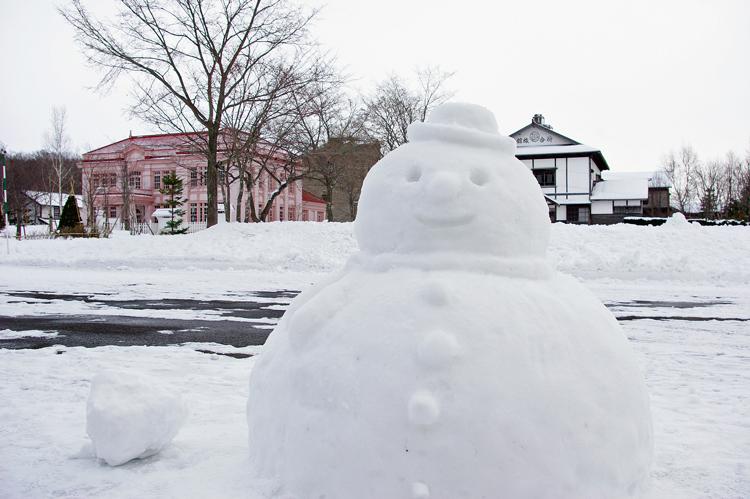 雪だるまが歓迎