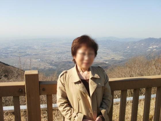 つくば山頂での記念撮影