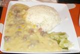粟米肉粒飯