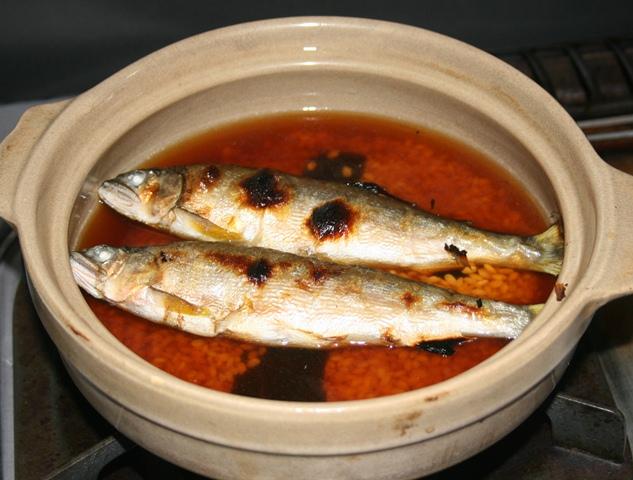 IMG_0844 アユ飯を炊く W
