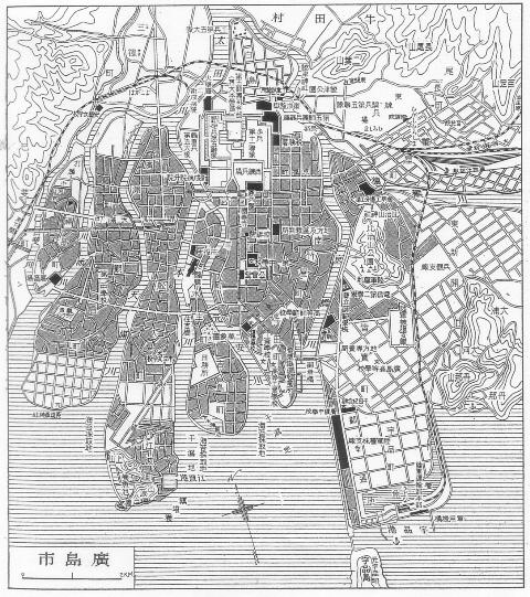 広島地図_1930年頃 W