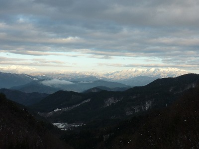 穂高連峰と乗鞍岳
