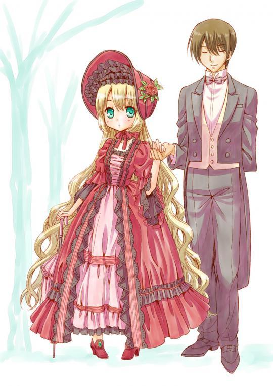 ドレスの女の子と執事2