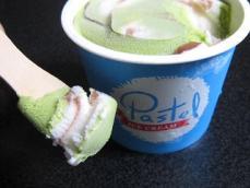 パステルなめらか抹茶小豆アイスクリーム