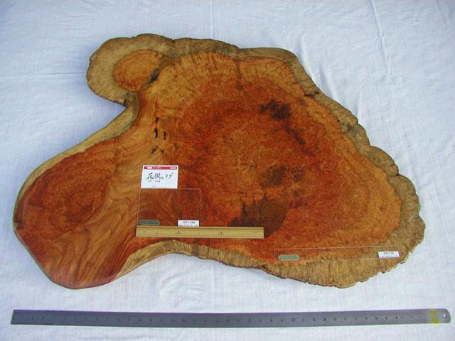 No.5909 材料 花櫚コブ 天板向け 自然 木裏(約102×70×6.5cm)