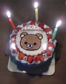ばーすでいケーキ
