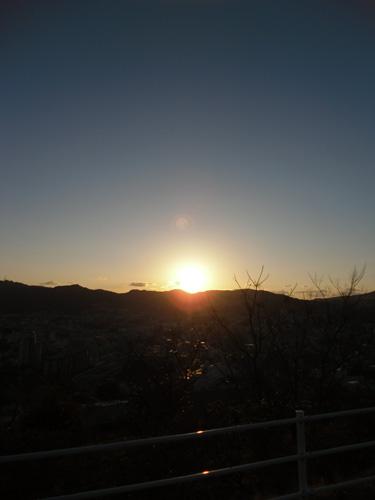 十字架山の夕日