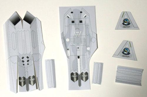 胴体と垂直尾翼1