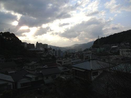 三原の夕方