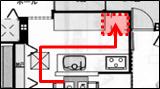 1階キッチン間取り5