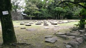 広島城礎石