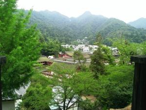 千畳閣から臨む厳島神社